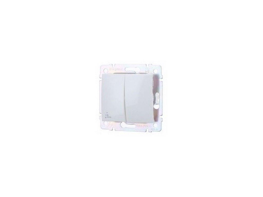 Legrand Valena Vypínač č.5B IP44 biely