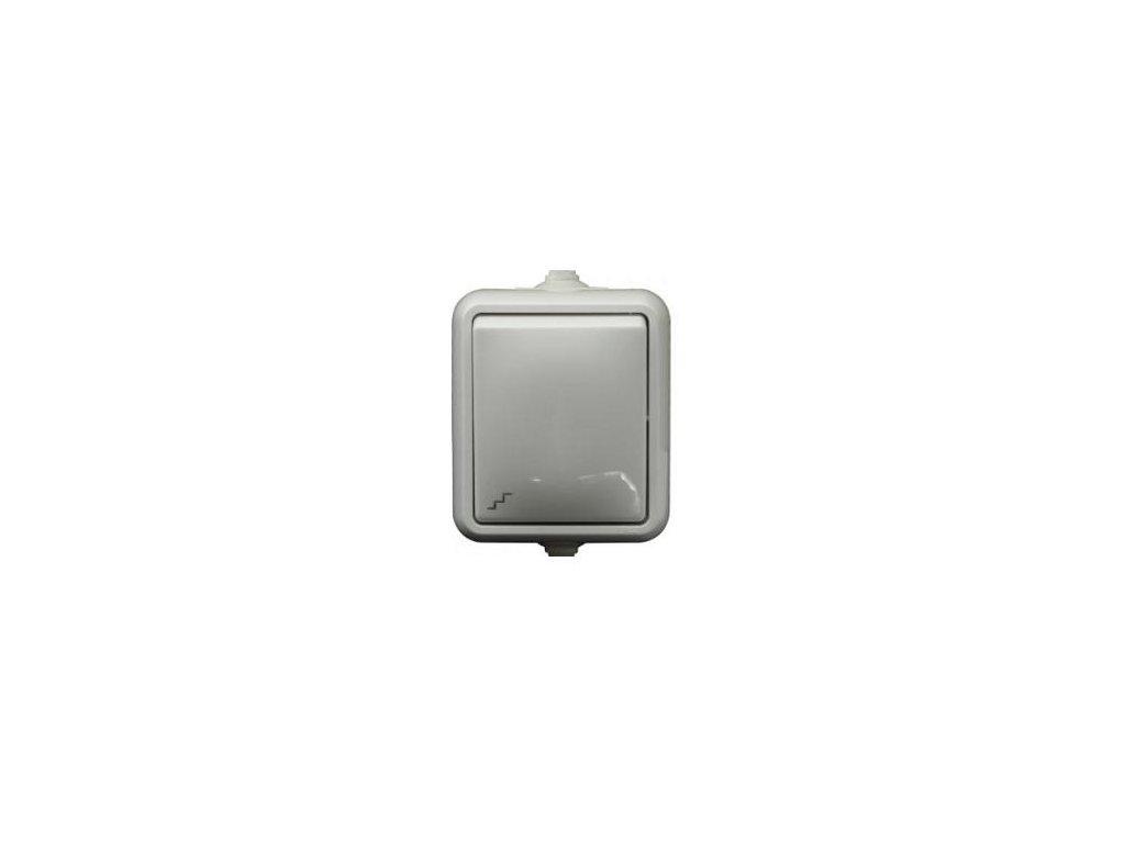Exteriérový vypínač SCAME č. 1 IP44 biely