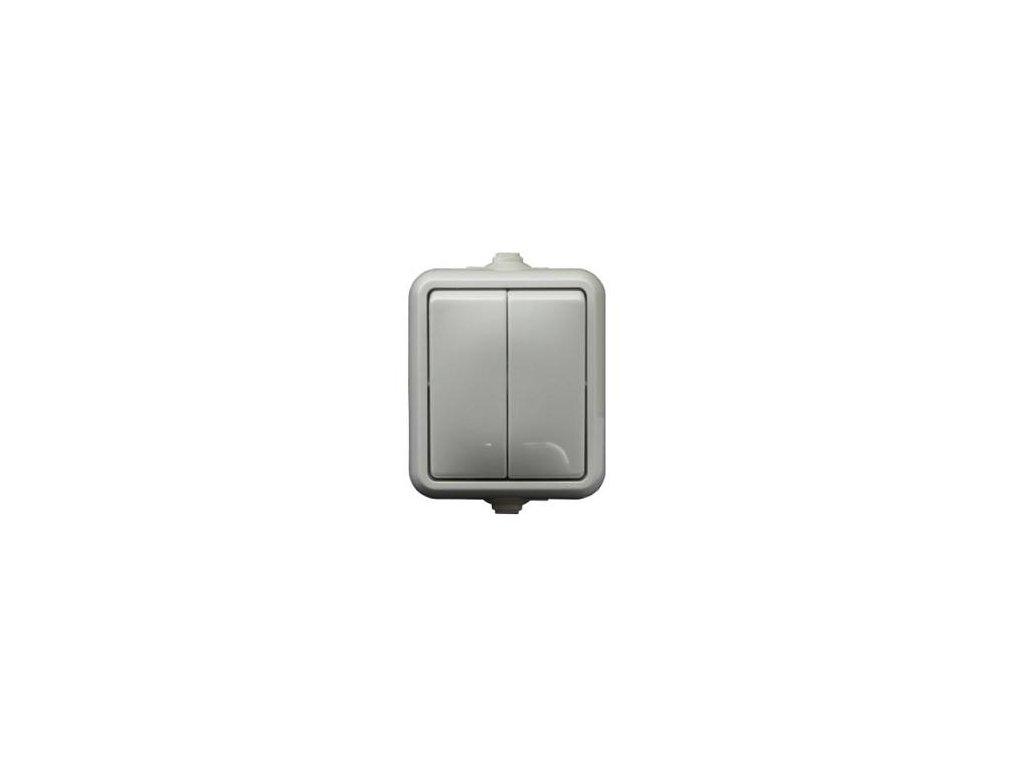 Exteriérový vypínač SCAME č. 5 IP44 biely