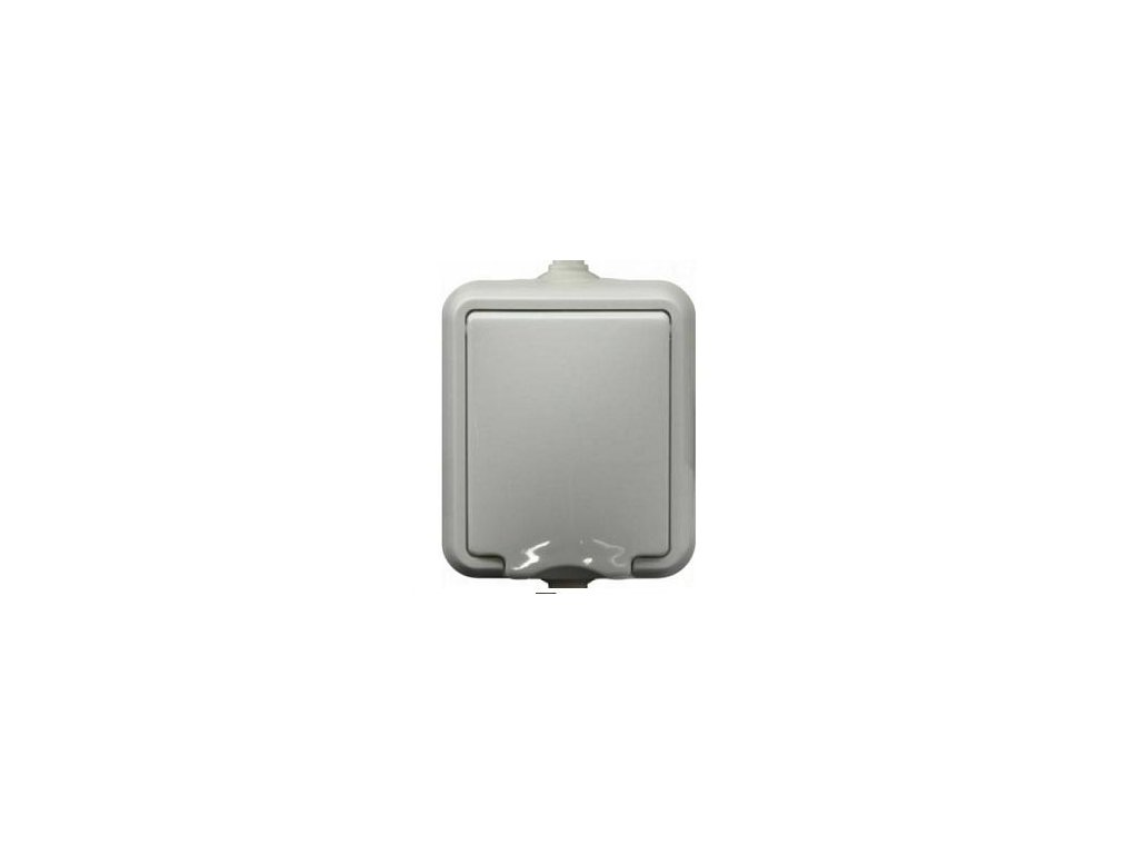 Exteriérová zásuvka SCAME IP44 biela