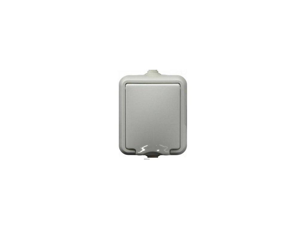 Exteriérová zásuvka SEZ IP44 biela