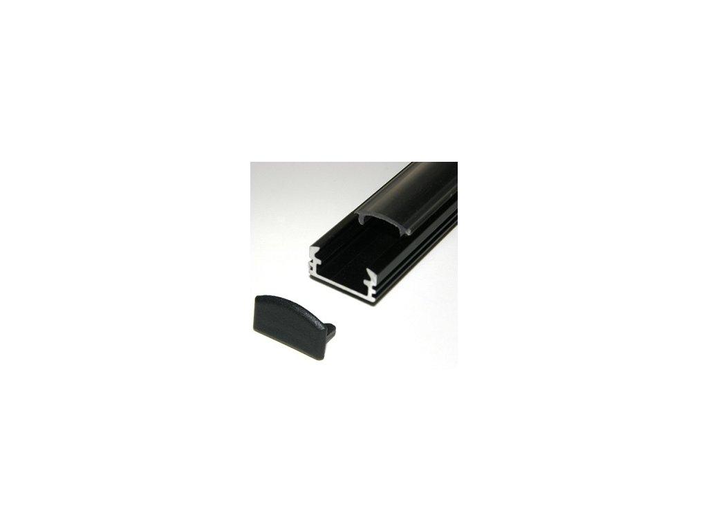 LED lišta čierna (2m)