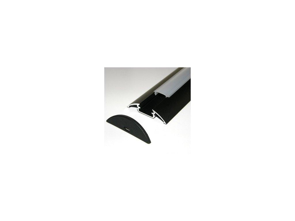 LED lišta dekoračná čierna (2m)