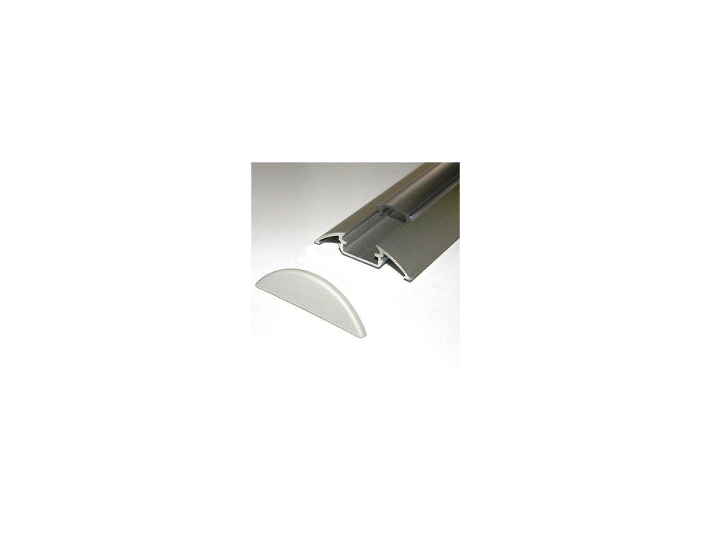 LED lišta dekoračná strieborná (2m)