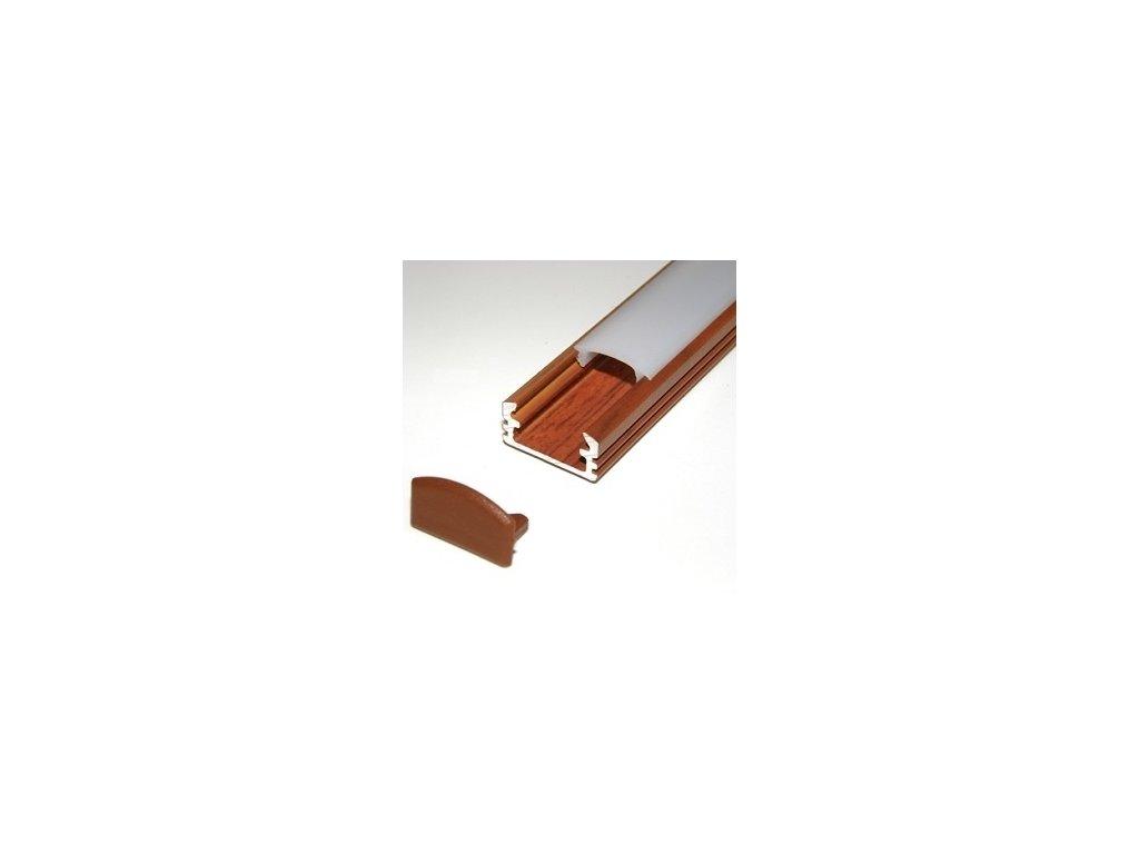 LED lišta palisander (2m)