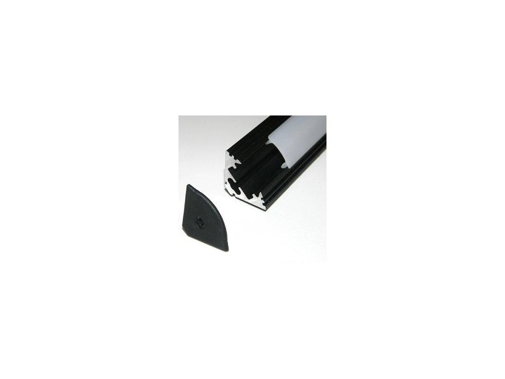 LED lišta rohová čierna (2m)