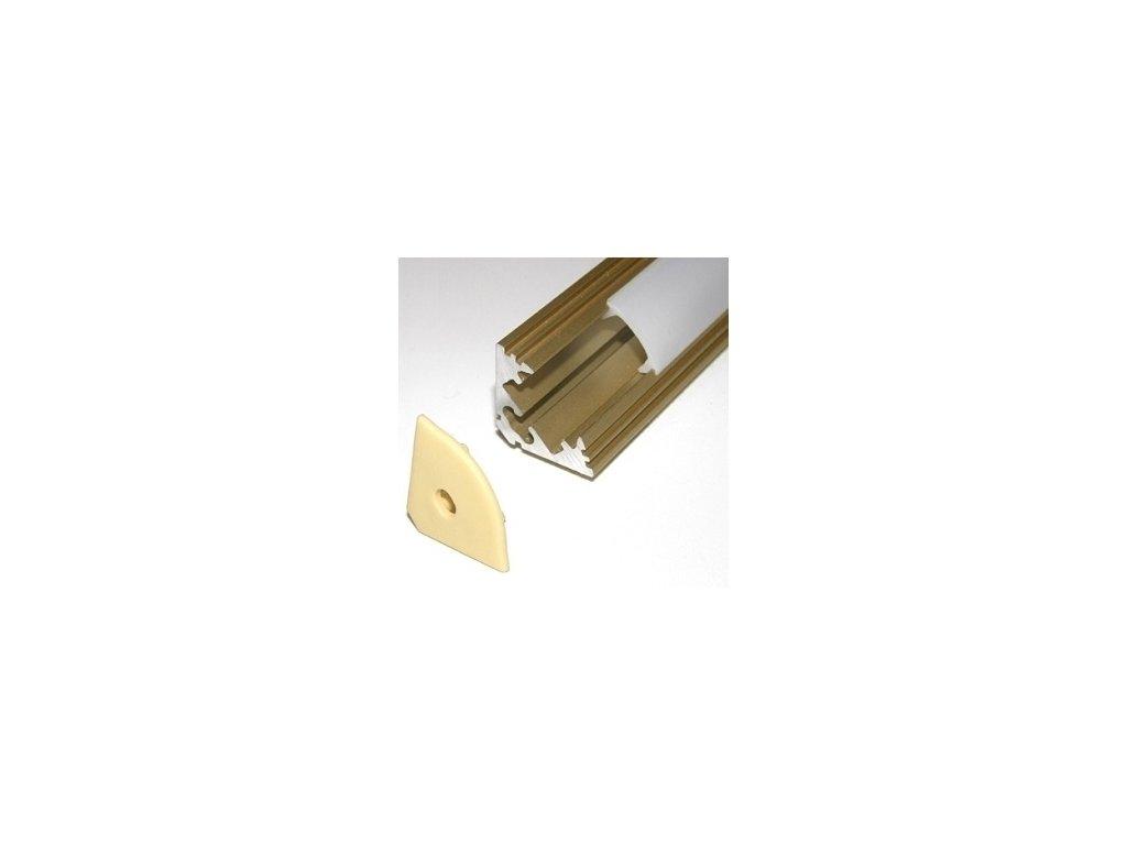 LED lišta rohová zlatá (2m)