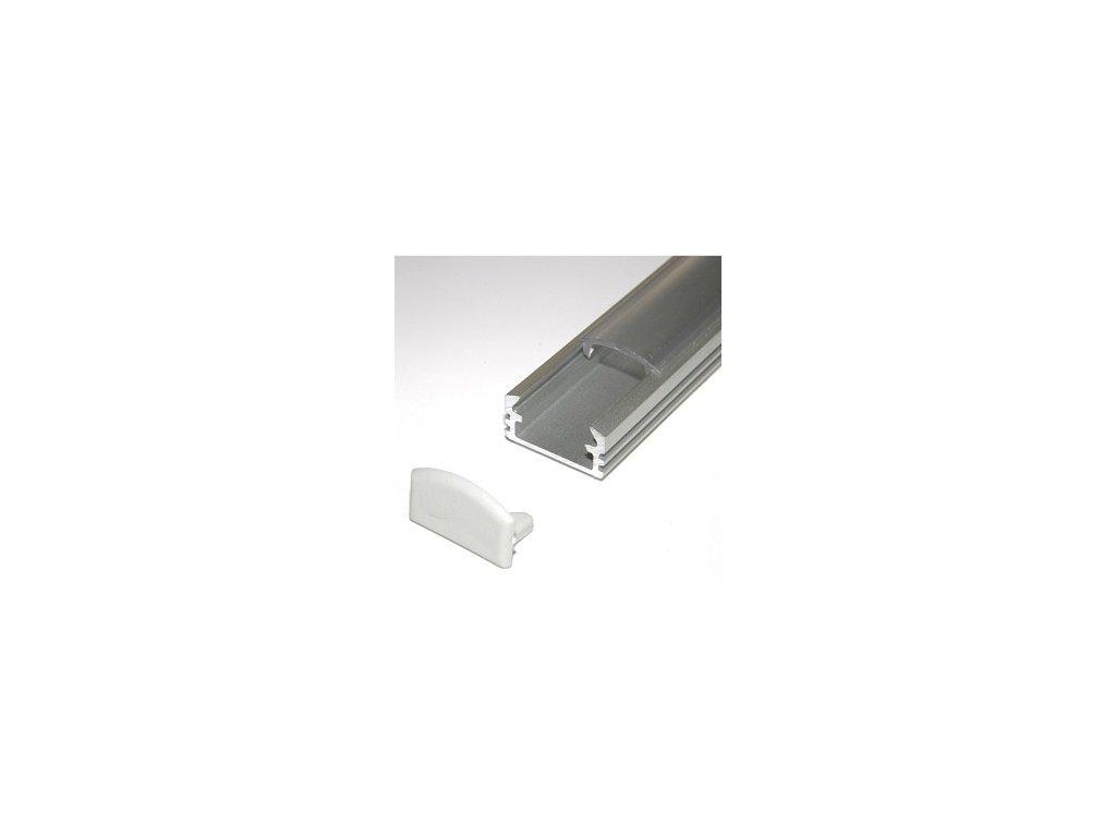 LED lišta strieborná (2m)