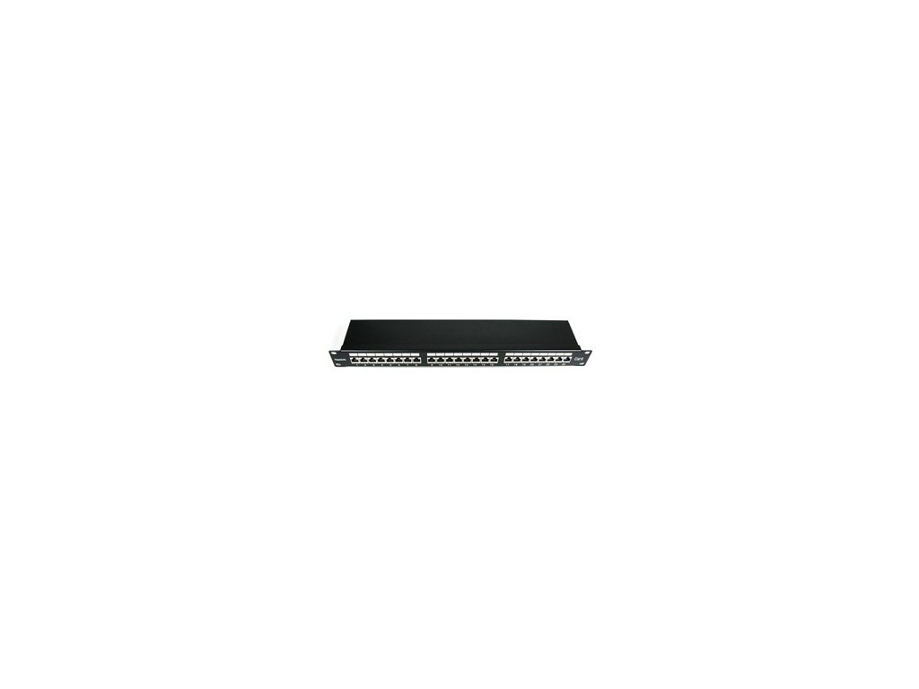 "19"" 24xRJ45 patch panel FTP cat.6e"