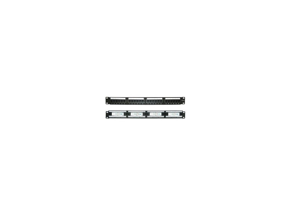 "19"" 24xRJ45 patch panel UTP cat.5e"