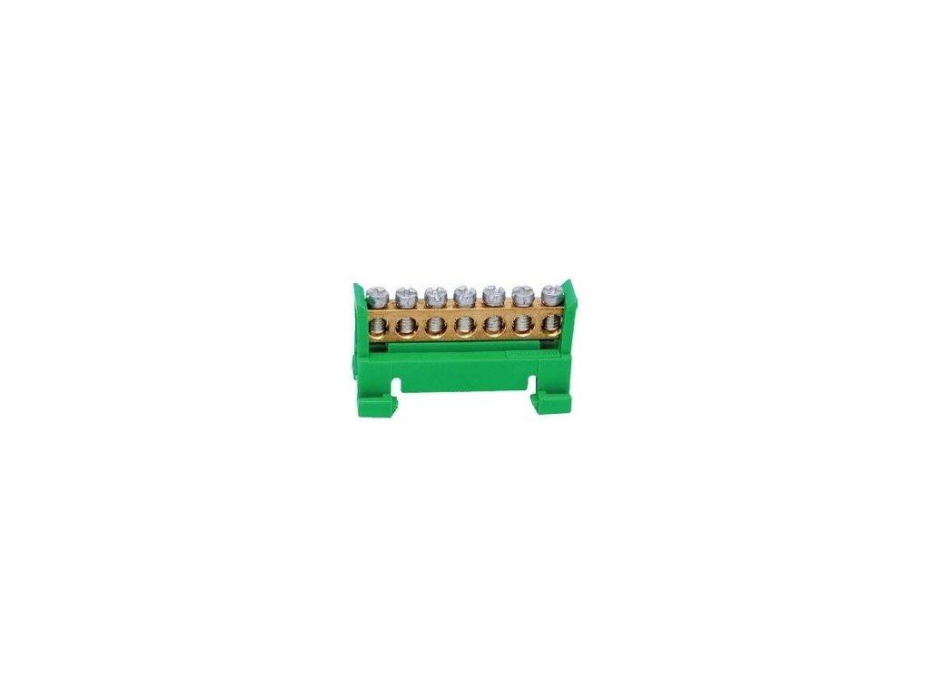 Nulový mostík PE7, zelený