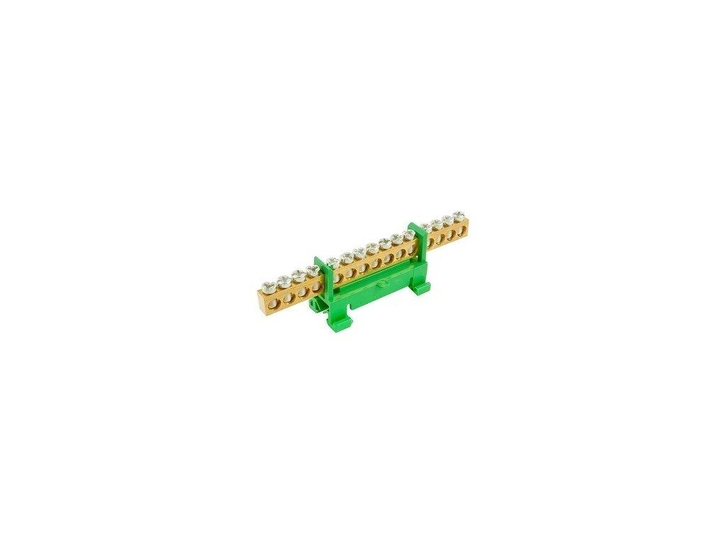 Nulový mostík PE15, zelený