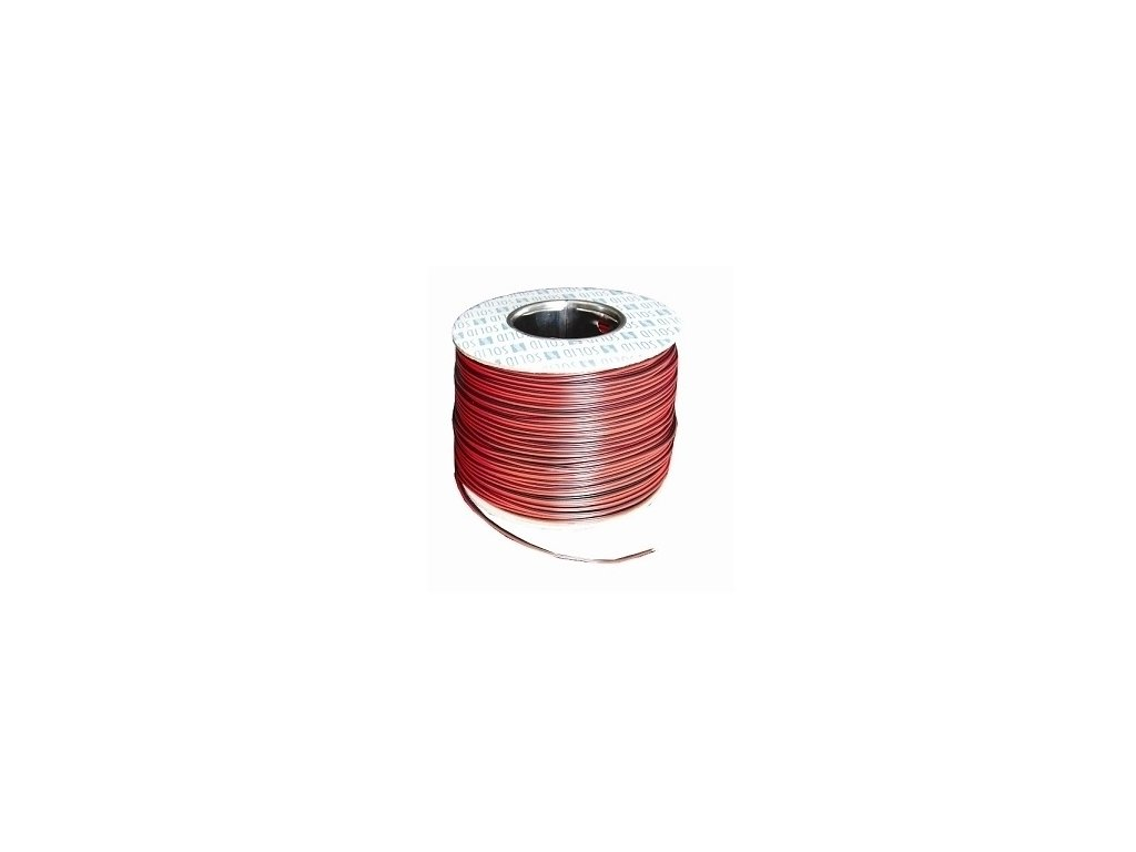 Audio kábel CYH 2x0,5 červ./čierny