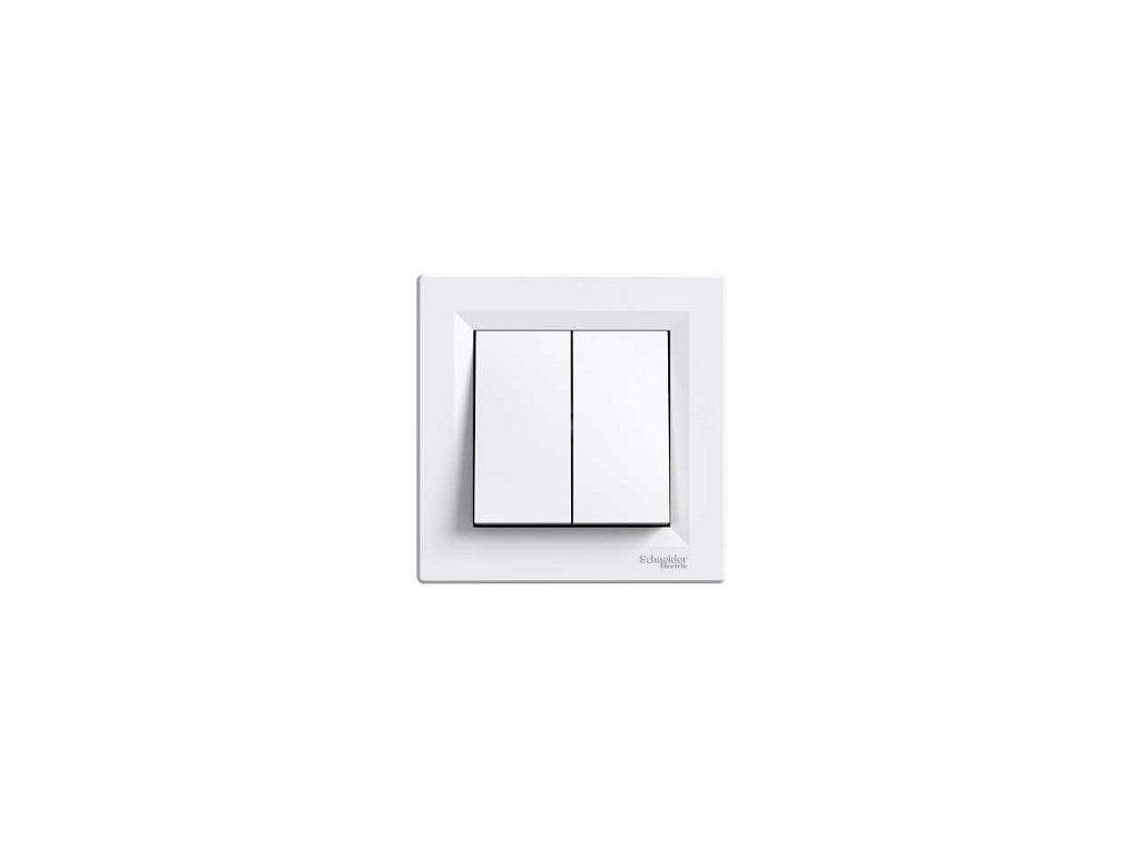 Schneider ASFORA vypínač č.5 biely