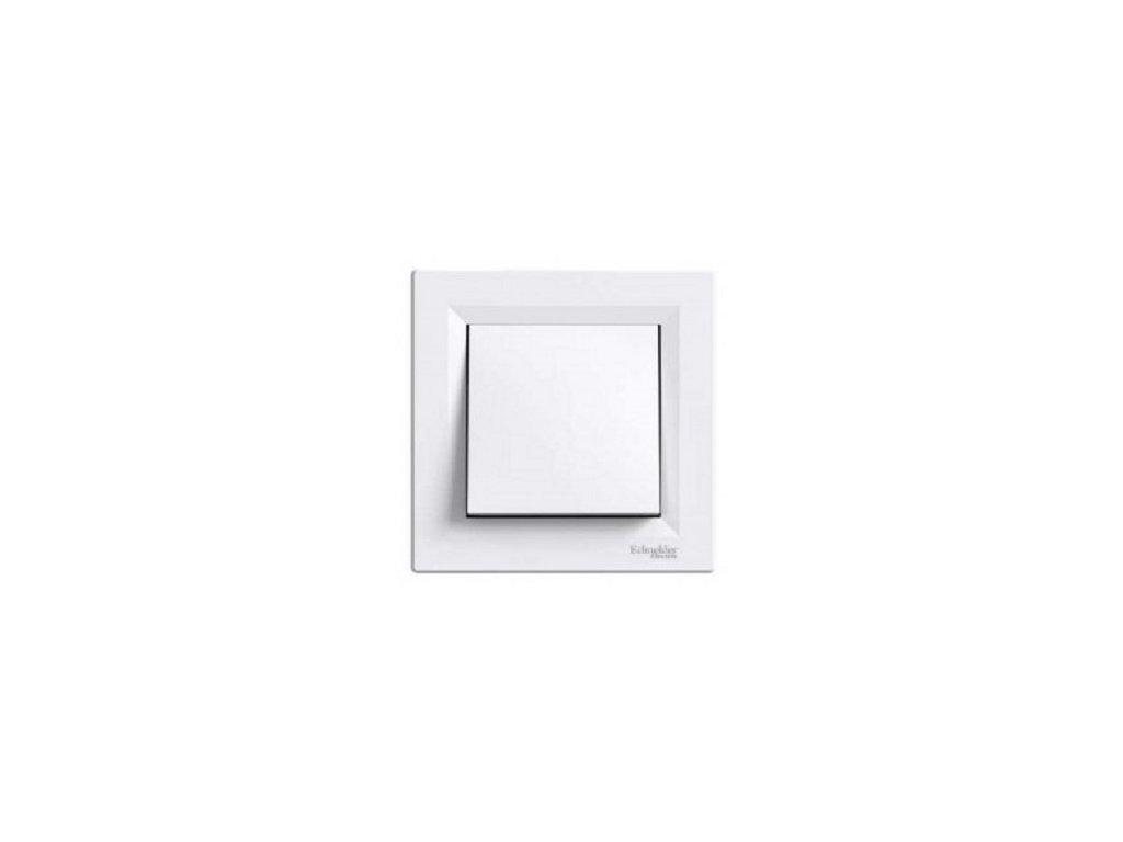 Schneider ASFORA tlačítko biele