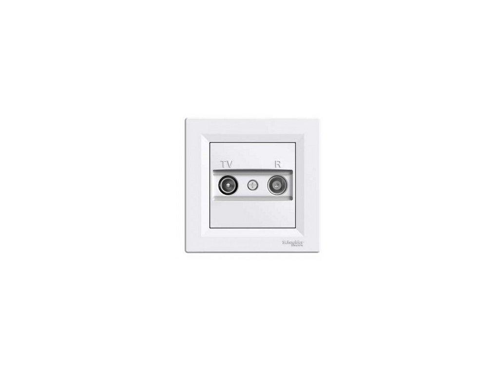 Schneider ASFORA TV+R zásuvka koncová biela