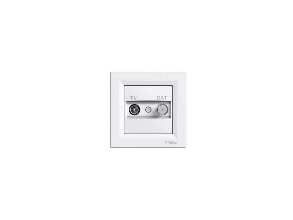 Schneider ASFORA TV+S zásuvka koncová biela