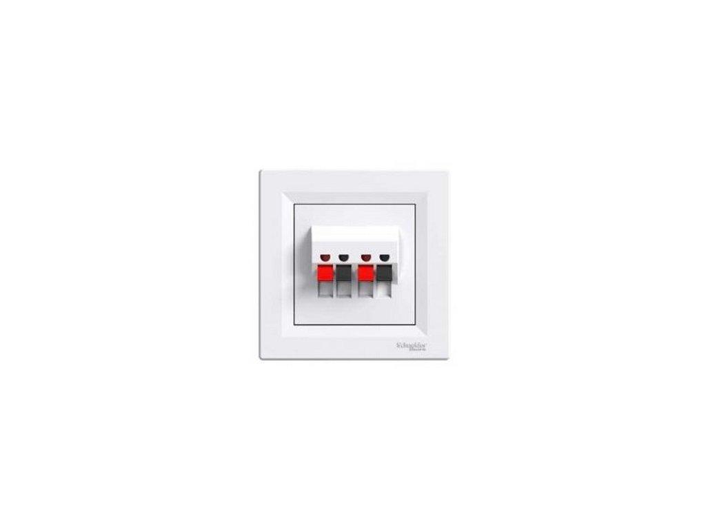 Schneider ASFORA Audio dvojzásuvka biela