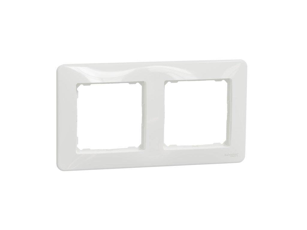 Schneider SEDNA DESIGN 2 rámik biely