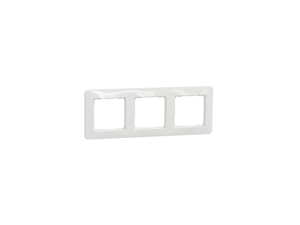 Schneider SEDNA DESIGN 3 rámik biely