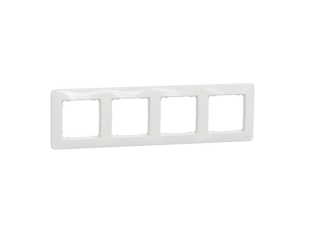 Schneider SEDNA DESIGN 4 rámik biely