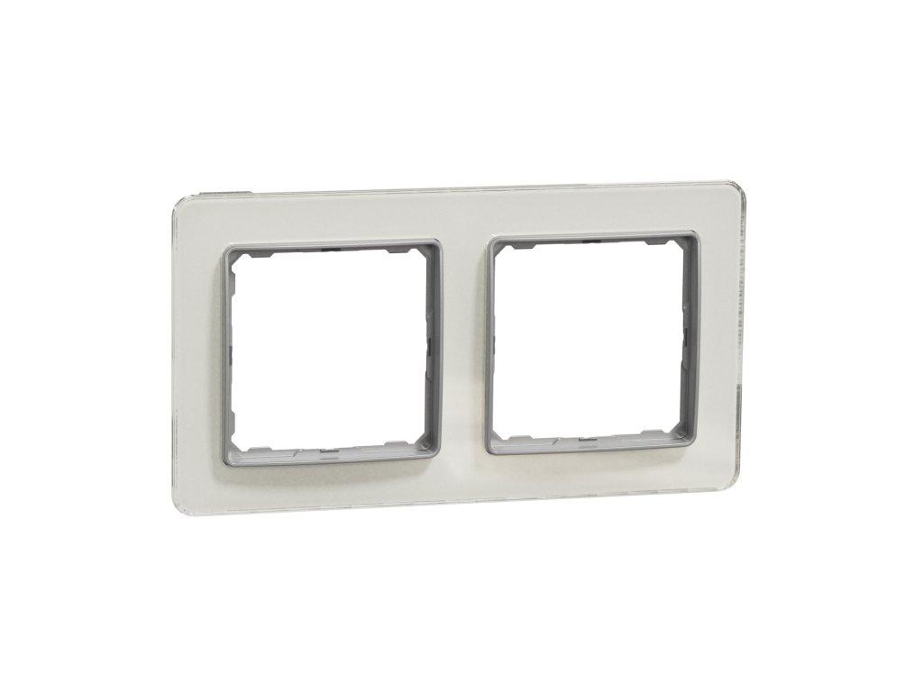Schneider SEDNA DESIGN 2 rámik biele sklo