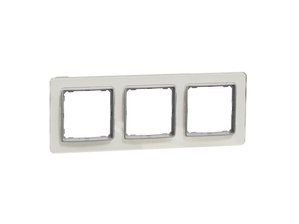 Schneider SEDNA DESIGN 3 rámik biele sklo