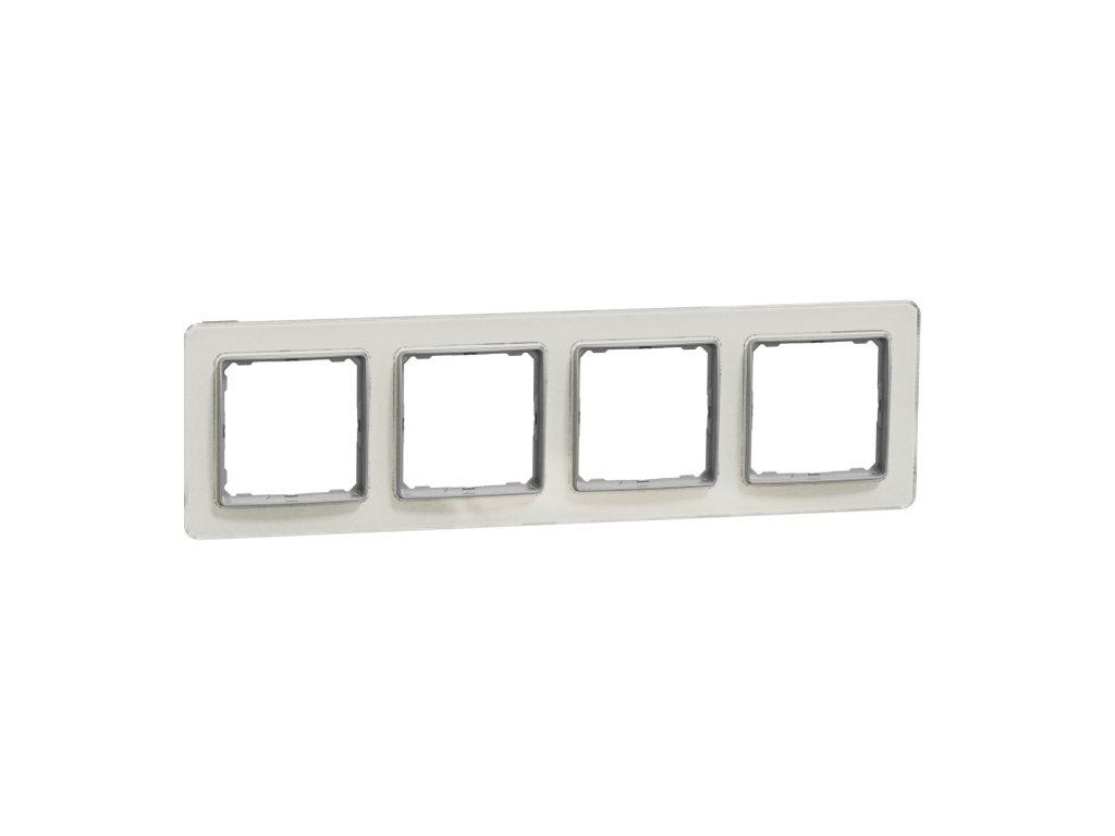 Schneider SEDNA DESIGN 4 rámik biele sklo