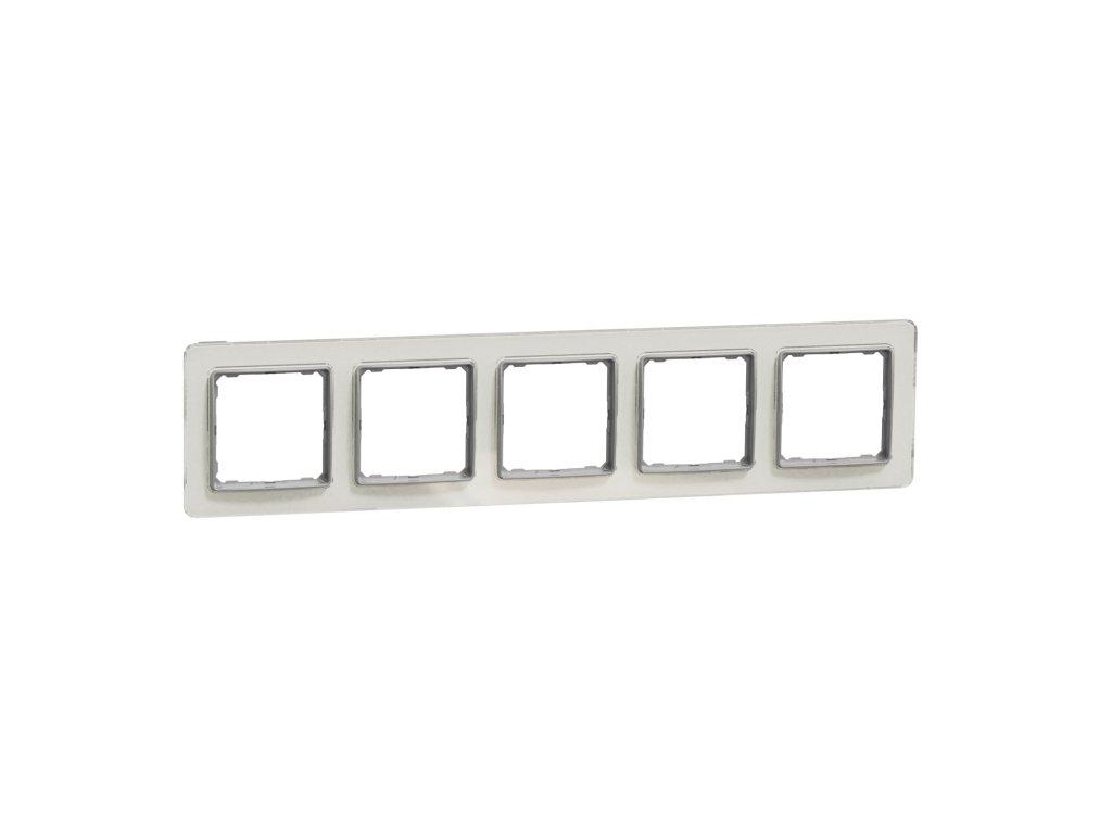 Schneider SEDNA DESIGN 5 rámik biele sklo
