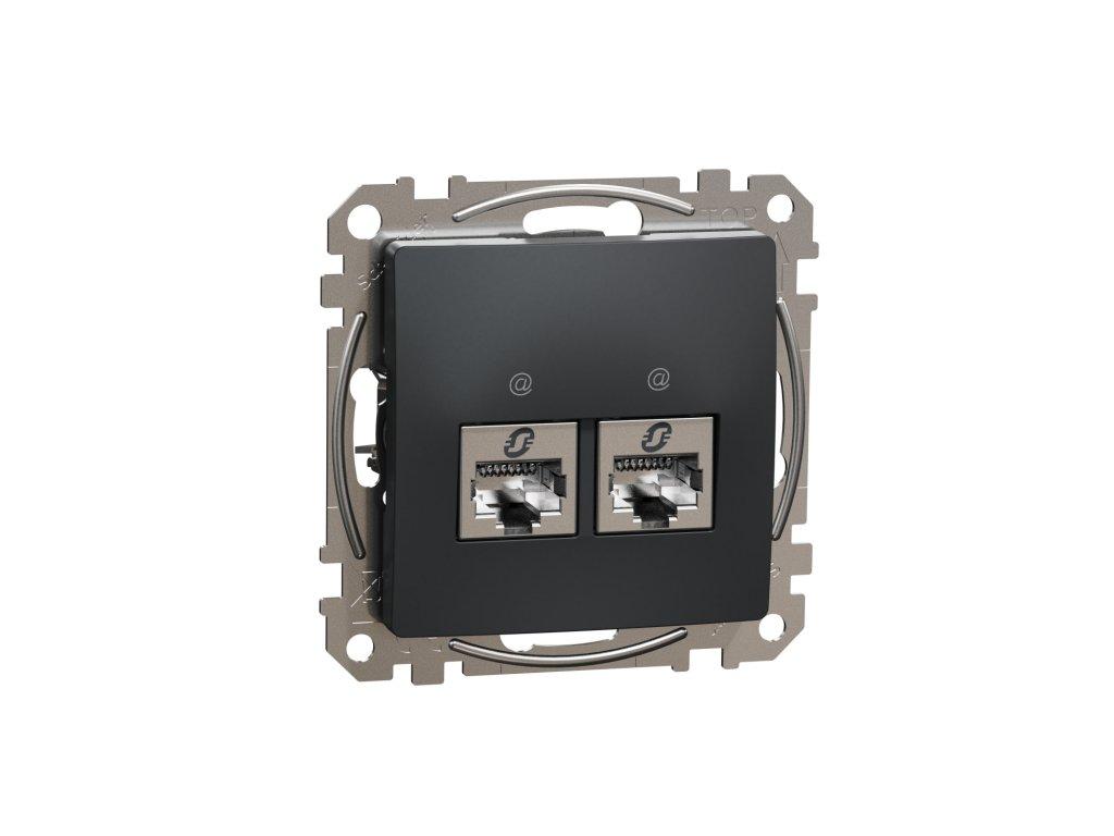 Schneider SEDNA DESIGN dátová zásuvka 2xRJ45 6 STP antracit