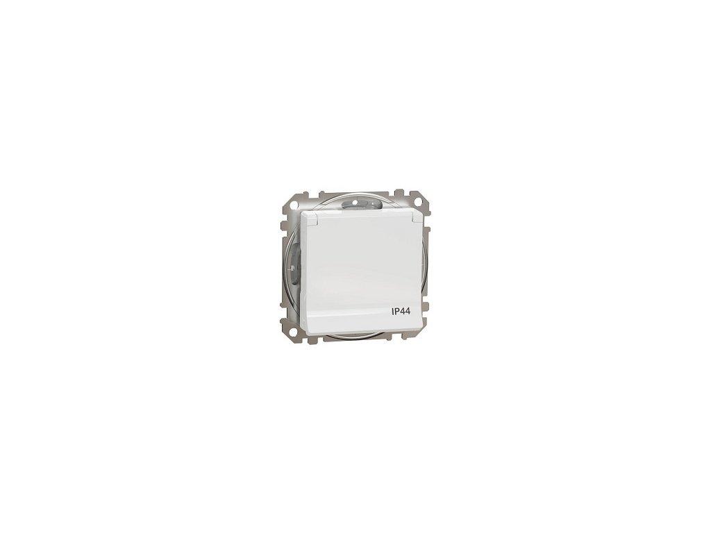 Schneider SEDNA DESIGN 1 násobná zásuvka IP44 biela