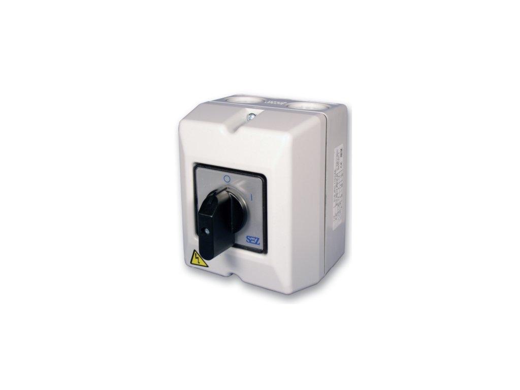 Vačkový spínač S 10 10A3P 0 1 páčka IP65