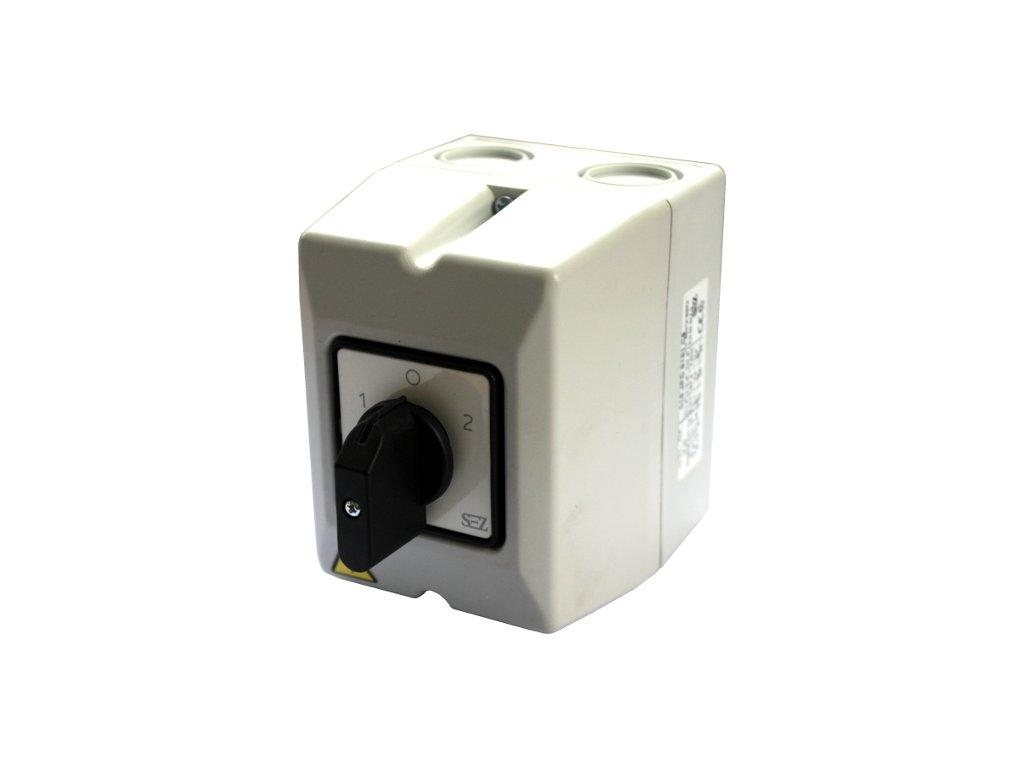Vačkový spínač S 25 25A3P 1 0 2 páčka IP65 reverzačný