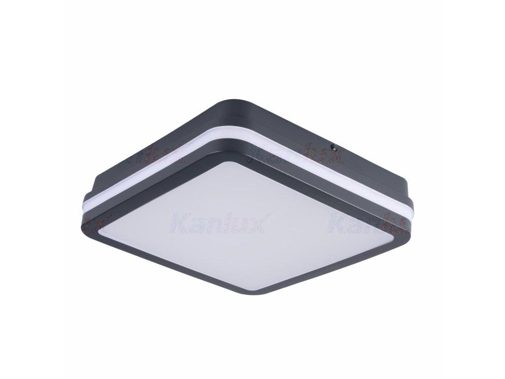 LED prisadené svietidlo so senzorom BENO NW L SE GR 24W 230V 1920lm 4000K IP54 grafit