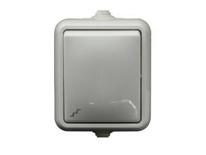 SCAME Vypínač č.1 IP44 biely