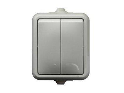 SCAME Vypínač č.5 IP44 biely