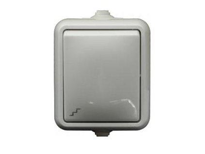 Exteriérový vypínač SCAME č. 6 IP44 biely