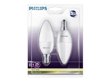 Žiarovka PHILIPS LEDcandle 2,5W (2ks)