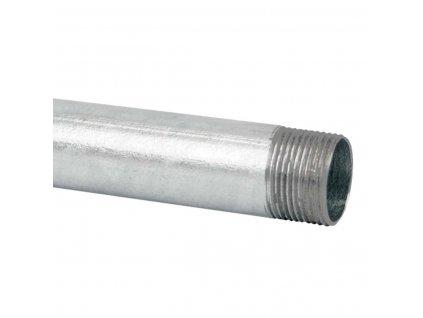 Rúrka pevná 6029 ZNM S 37mm 34,4mm 1250N 3m pancierová zinkovaná so závitom