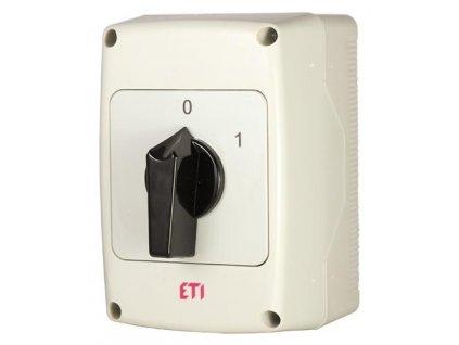 Vačkový spínač CS 40 10 40A3P 0 1 páčka IP65