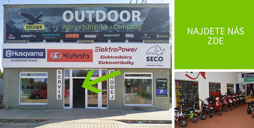 Prodejna elektro skútrů