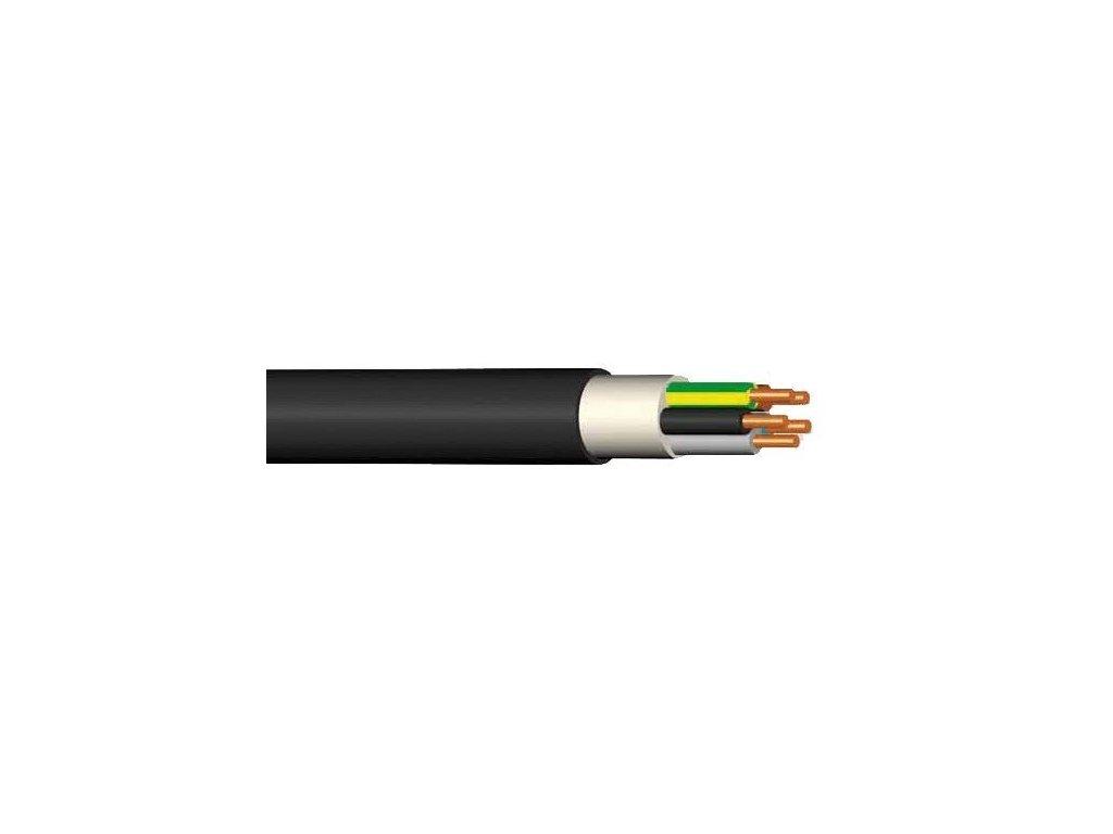 Kábel silový CYKY-J 4x2,5, guľatý, čierny