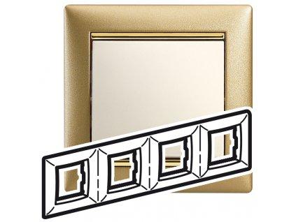 80485 valena ramik stvornasobny matne zlato