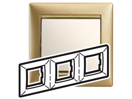 80482 valena ramik trojnasobny matne zlato