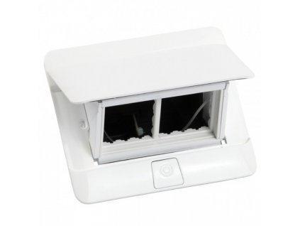 Zásuvkový box POP-UP, biela, 4 moduly 654001
