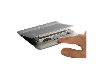 Zásuvkový box POP-UP, hliník, 4 moduly 054011