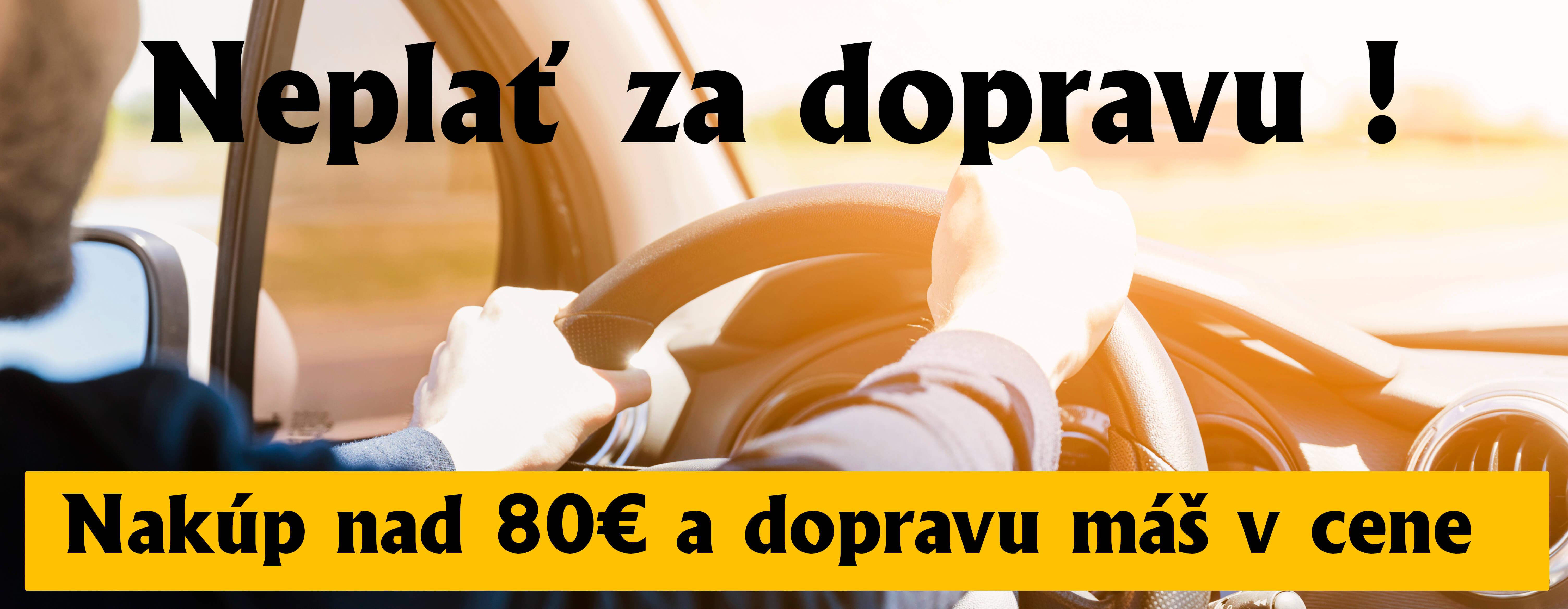 Doprava zadarmo nad 80€