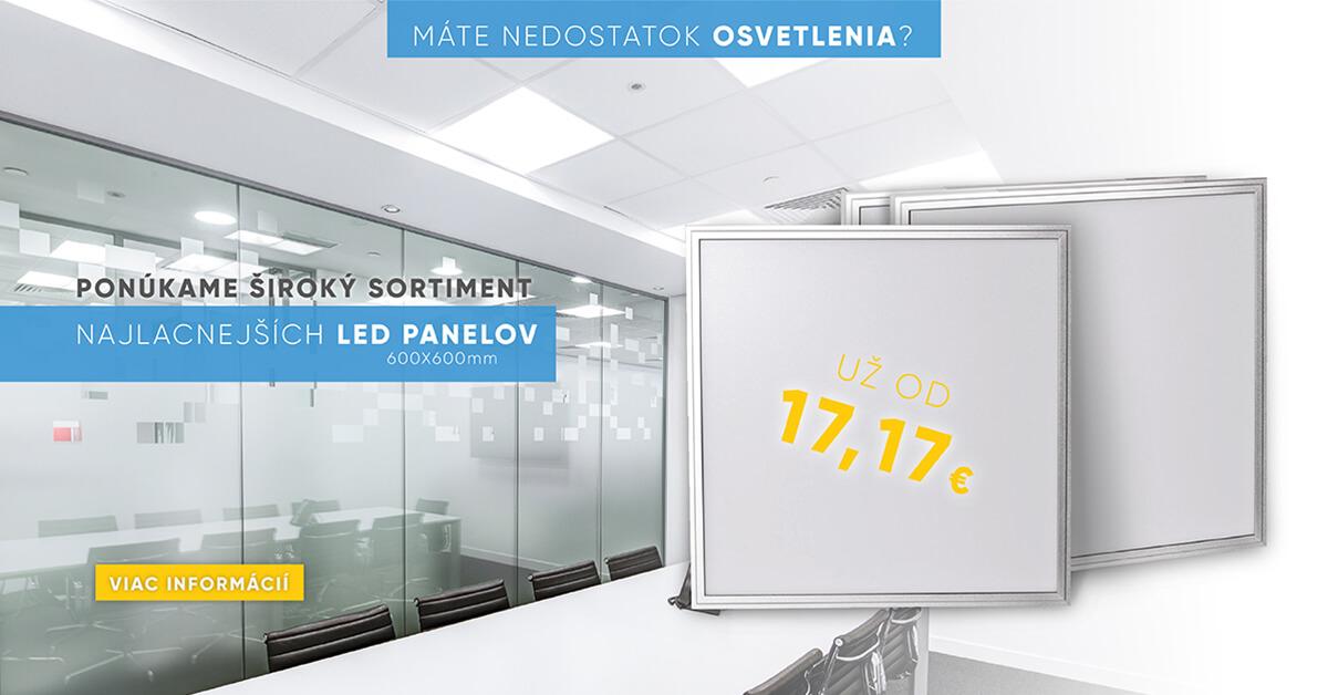 LED panely najlacnejšie a skladom