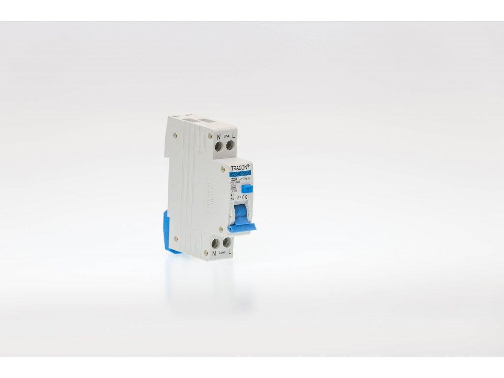 Prúdový chránič s ističom 2P 1modul C32A 100mA 6kA AC KVKVE-32/100