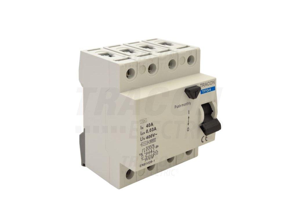 Prúdový chránič 4P 16A 30mA 6kA A/AC TFG4-16030